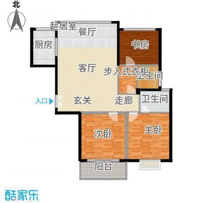盛世御珑湾C1-1户型3室2卫1厨