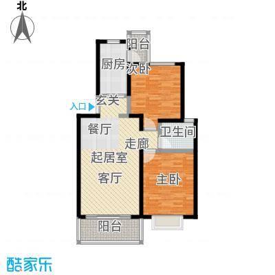 佳泰花园87.70㎡房型: 二房; 面积段: 87.7 -110 平方米; 户型