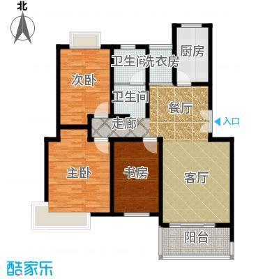 三湘世纪花城三期98.00㎡房型: 二房; 面积段: 98 -105 平方米; 户型