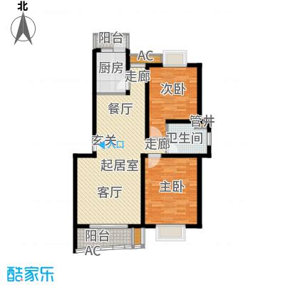 浣纱雅苑94.00㎡房型: 二房; 面积段: 94 -101 平方米; 户型