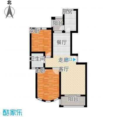 新江湾城雍景苑二期房型: 二房; 面积段: 100 -110 平方米; 户型