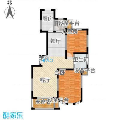 新江湾城雍景苑二期100.00㎡房型: 二房; 面积段: 100 -110 平方米; 户型