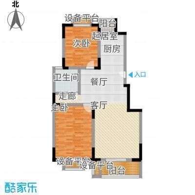 浦江风景苑一期房型户型2室1卫