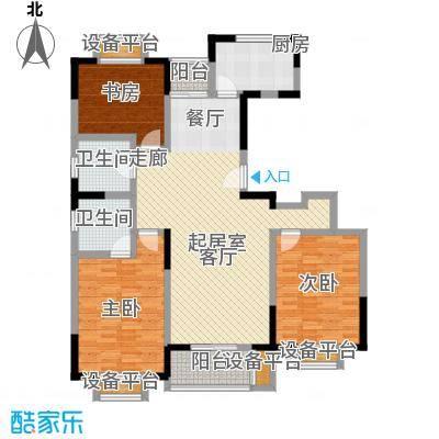 浦江风景苑一期房型户型3室2卫1厨