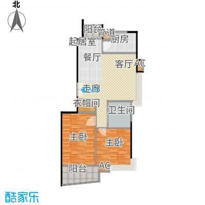 恒联新天地花园二期98.00㎡房型: 二房; 面积段: 98 -106 平方米; 户型