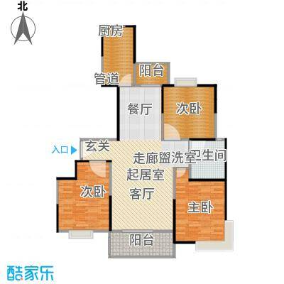 新江湾城建德国际公寓100.00㎡房型: 三房; 面积段: 100 -200 平方米; 户型