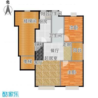 浦江华侨城5期E边套户型2室1卫1厨