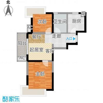 水清年华花园70.00㎡房型: 二房; 面积段: 70 -80 平方米; 户型