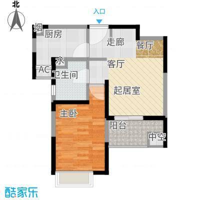 水清年华花园50.00㎡房型: 一房; 面积段: 50 -60 平方米; 户型