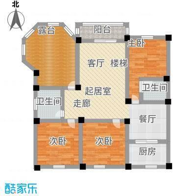 尚城河滨三房两厅两卫户型-------T