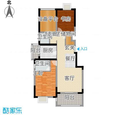 可逸兰亭107.00㎡107平米2房2厅2卫户型2室2厅2卫