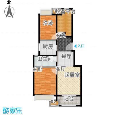 万科MIXTOWN89平米2室2厅1卫户型2室2厅1卫