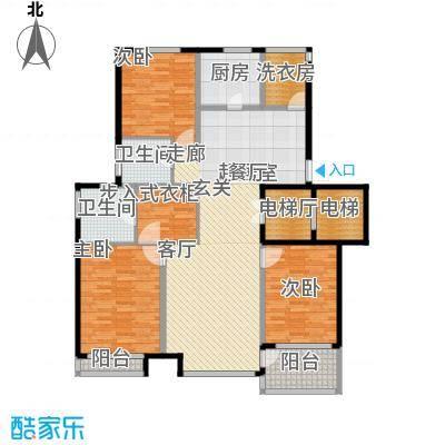 浦江坤庭A户型3室2卫1厨