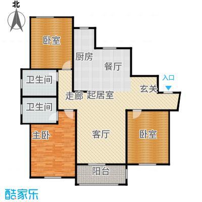 古北新城酩悦166C1户型1室2卫