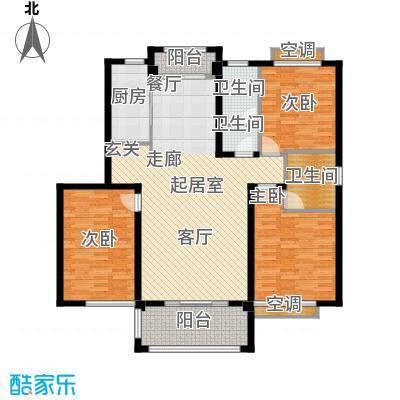 鑫苑世家136.00㎡D户型3室2厅2卫