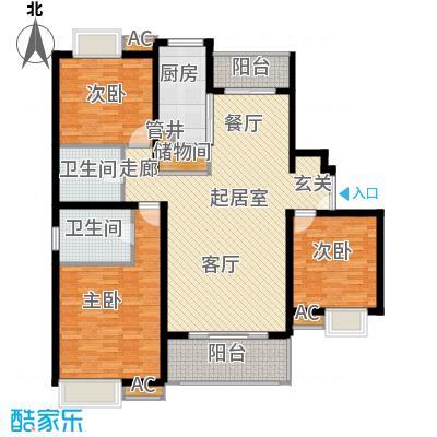 万源城御溪134.00㎡房型: 三房; 面积段: 134 -143 平方米;户型