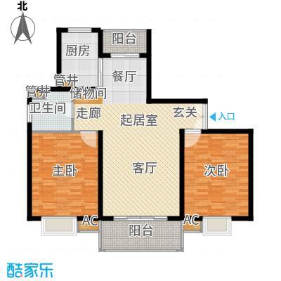 万源城御溪110.00㎡房型: 二房; 面积段: 110 -120 平方米;户型