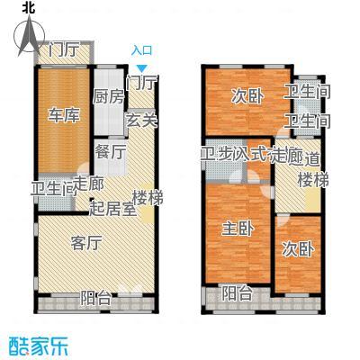 新时代景庭房型复式户型3室4卫1厨