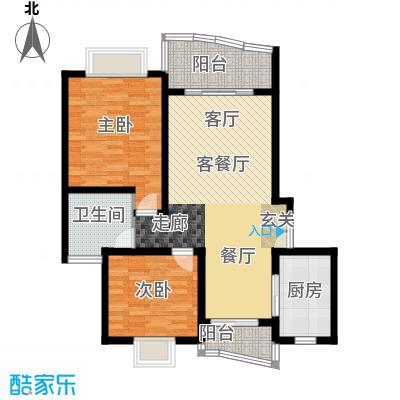 九歌茗园89.00㎡房型: 二房; 面积段: 89 -101.66 平方米; 户型