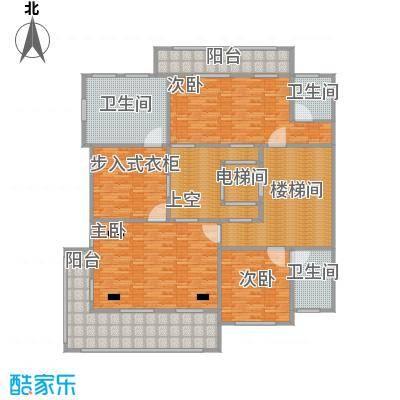 鹏欣一品漫城三期D二层户型3室3卫