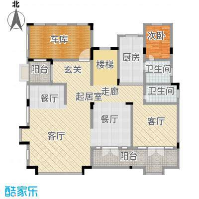 新时代景庭房型户型1室2卫1厨