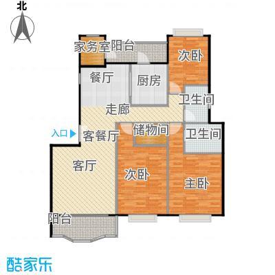 新明星花园二期房型户型3室1厅2卫1厨
