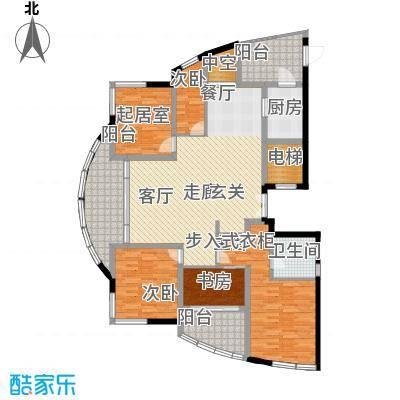 万源城逸郡145.00㎡房型: 三房; 面积段: 145 -170 平方米; 户型