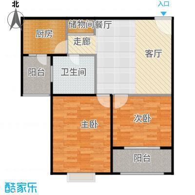 中梅苑三期70.00㎡房型: 一房; 面积段: 70 -80 平方米;户型