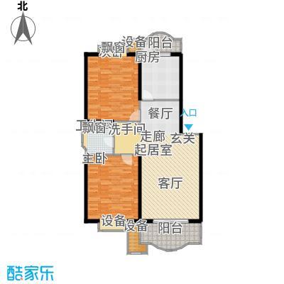 虹桥阳光翠庭房型户型2室1卫1厨