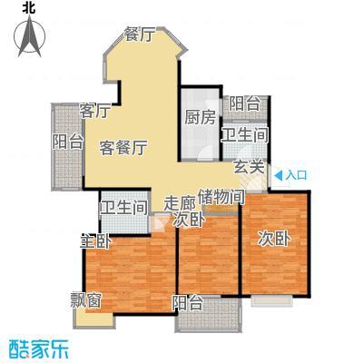 东兰世茗雅苑房型户型3室1厅2卫1厨