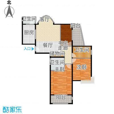 中梅苑三期110.00㎡房型: 二房; 面积段: 110 -120 平方米;户型