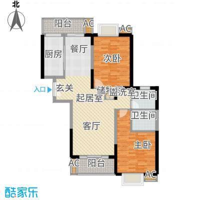 名都新城四期101.59㎡房型: 二房; 面积段: 101.59 -111.38 平方米;户型