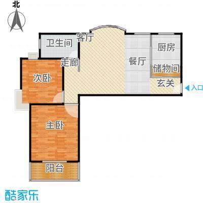 中梅苑三期100.00㎡房型: 二房; 面积段: 100 -110 平方米;户型
