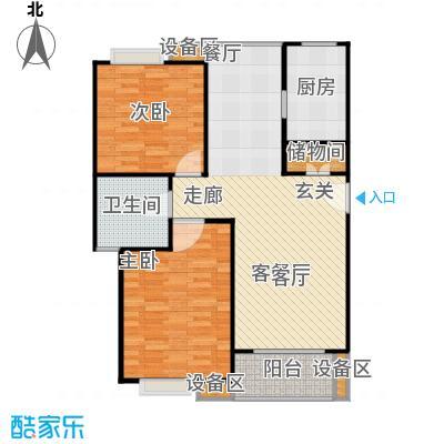 金榜世家六期93.00㎡房型: 二房; 面积段: 93 -100 平方米;户型