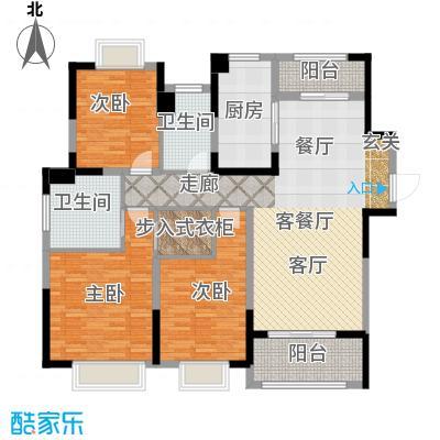 中海寰宇天下户型3室1厅2卫1厨