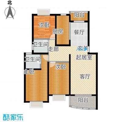 西郊河畔家园118.00㎡房型: 三房; 面积段: 118 -132 平方米;户型
