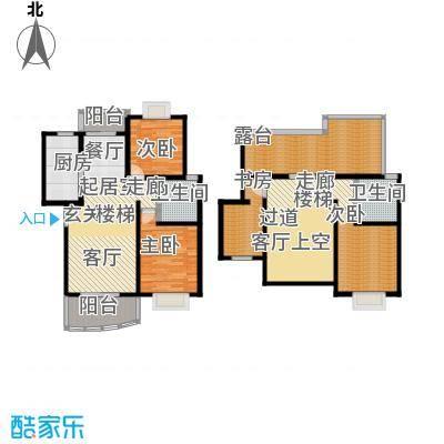 西郊河畔家园140.00㎡房型: 四房; 面积段: 140 -160 平方米;户型