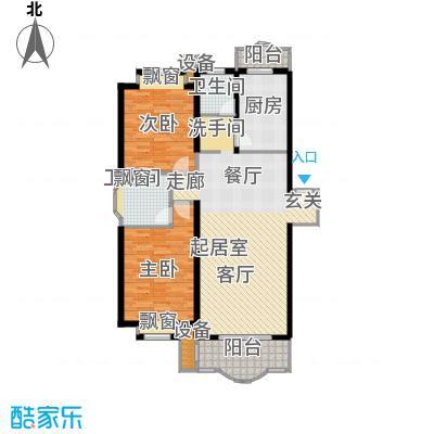 虹桥阳光翠庭房型户型2室2卫1厨