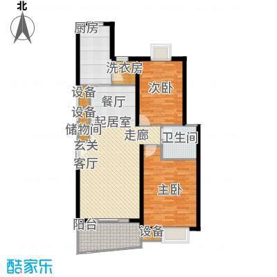 金色西郊城二期80.00㎡房型: 二房; 面积段: 80 -120 平方米; 户型