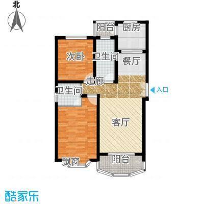 华唐苑四期90.00㎡房型: 二房; 面积段: 90 -100 平方米; 户型