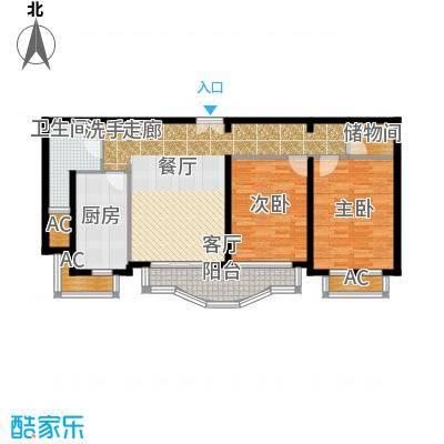 浦江花苑82.00㎡房型: 二房; 面积段: 82 -115 平方米; 户型