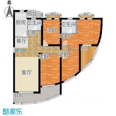 浦江花苑143.00㎡房型: 四房; 面积段: 143 -143 平方米; 户型