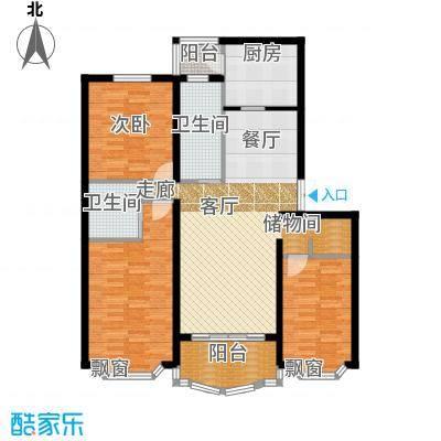 华唐苑四期110.00㎡房型: 三房; 面积段: 110 -120 平方米; 户型
