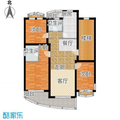 浦江花苑114.00㎡房型: 三房; 面积段: 114 -143 平方米; 户型
