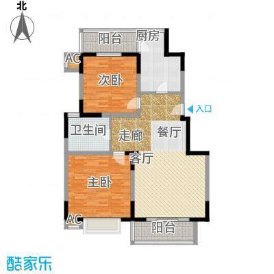 新明星花园三期房型户型2室1卫1厨