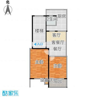 香港花园房型户型2室1厅1卫1厨