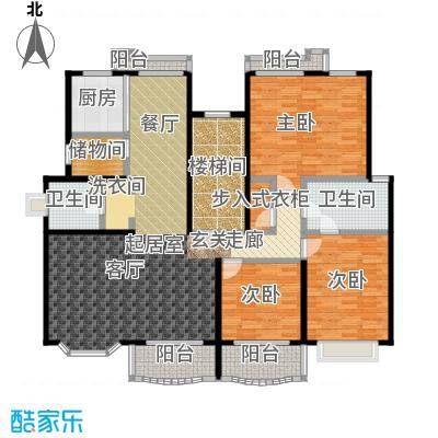 半岛豪门花园二期150.00㎡房型: 复式; 面积段: 150 -200 平方米; 户型