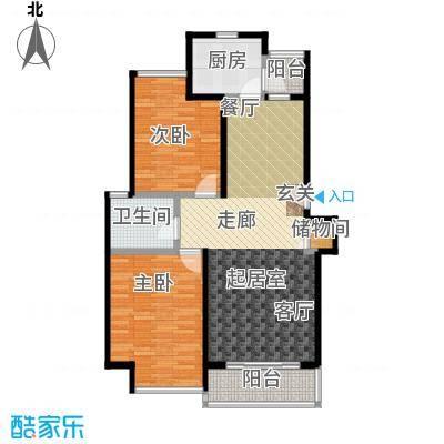 君临六六公寓90.00㎡房型: 二房; 面积段: 90 -100 平方米; 户型
