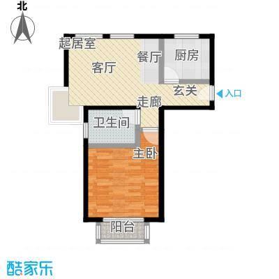 东苑米蓝城一期55.00㎡房型: 一房; 面积段: 55 -65 平方米;户型