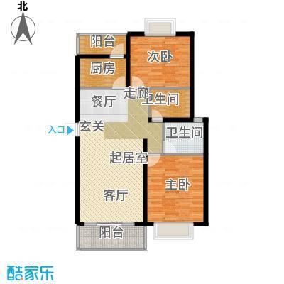 沁春园三村92.00㎡房型: 二房; 面积段: 92 -108 平方米; 户型